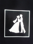 Wedding couple holding hands stencils for etching on glass     Marriage present
